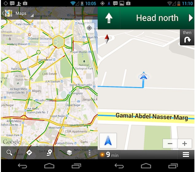 google maps live traffic updates india