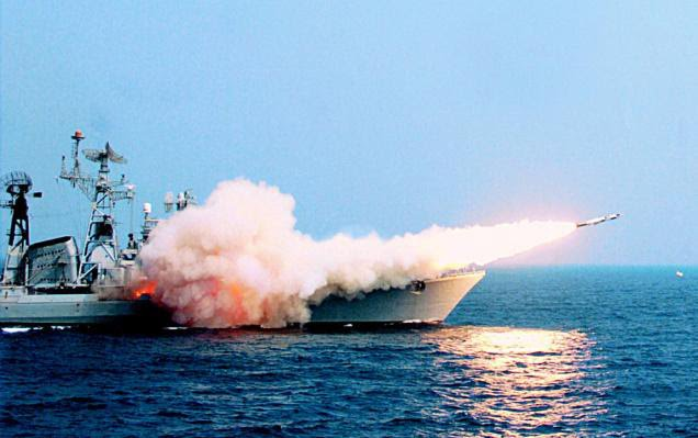 Indian Navy Successfully Test-Fires BrahMos Supersonic Cruise Missile Off INS-Teg