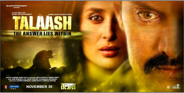 Talaash Movie Latest Stills, Aamir Khan Kareena Kapoor Rani Mukherjee Photos in Talaash Movie