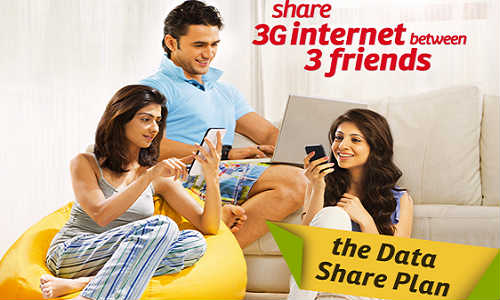 Airtel Introduces New Plan That Permits 3G Data Sharing Among Three Devices!