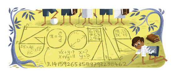 Google Salutes The Extraordinary Math-Genius Srinivasa Ramanujan! Doodles Up Love.