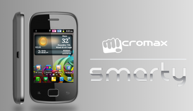 Micromax Introduces Smarty A68 @ Rs 6499!