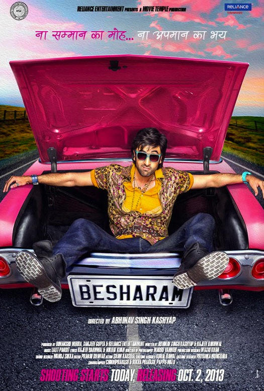 Ranbir-Kapoor-starrer-Besharam-Movie-First-Look-Poster indian nerve