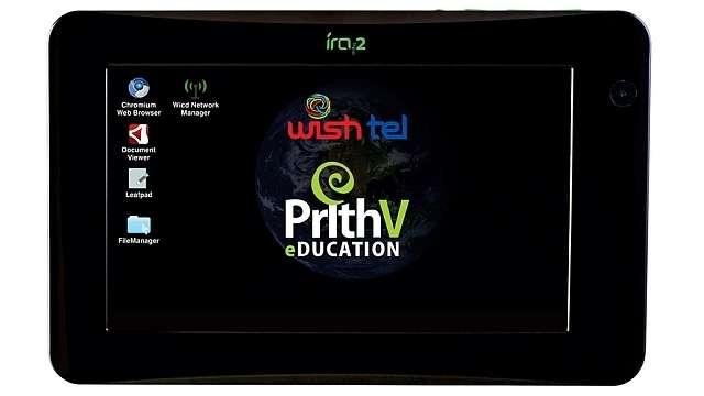 Wishtel's Tablet Running On Linux-Based Platform PrithV Coming This December For ~INR 2800/-