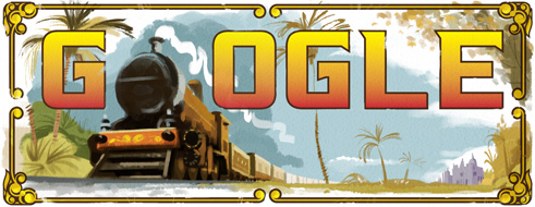160th_anniversary_of_the_first_passenger_train_in_india google doodle