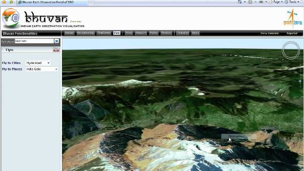 ISRO's Bhuvan Goes 3D; Includes Far-Off Indian Villages