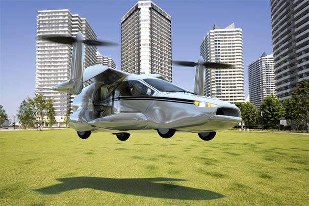 Terrafugia TF-X four-seater flying car