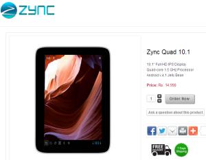 Zync Quad 10.1 Ad