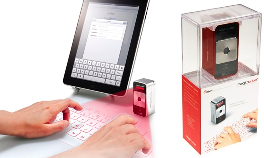 Celluon Magic Cube– Tap on Table and Get a Keyboard