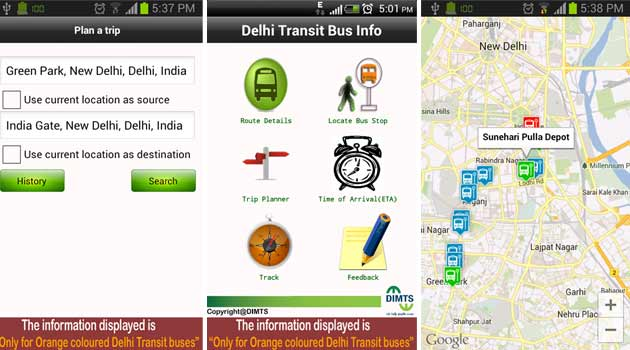 'Delhi Transit Bus Info' App For Android Out On Google Play Store