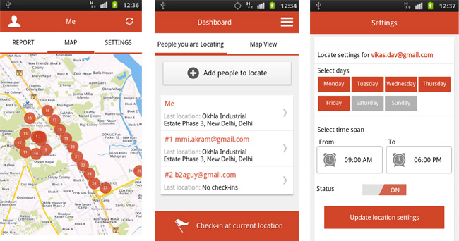 MapMyIndia's Android App 'Locate' Launched- Tracks Three People In Real Time