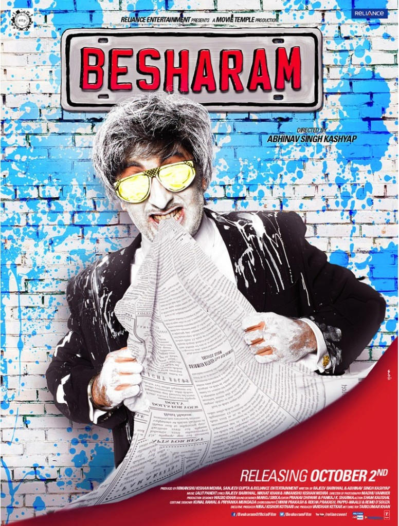 Besharam movie poster 1