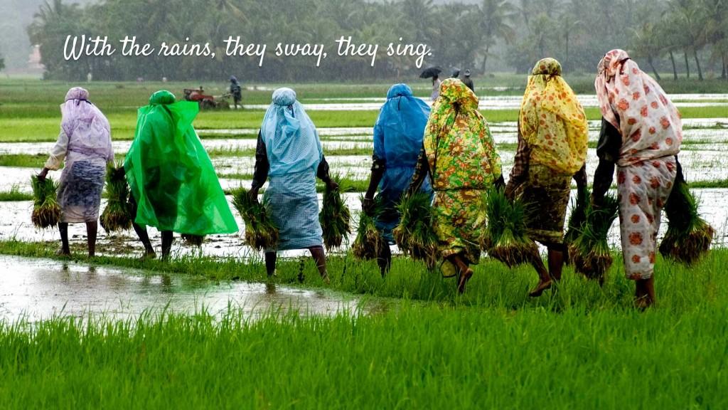 kerala tourism when it rains gesture controlled website