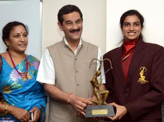 Shuttler PV Sindhu Bestowed With The Prestigious Arjuna Award 2013