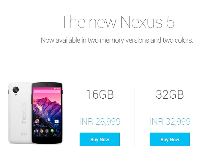 Google Nexus 5 Play Store
