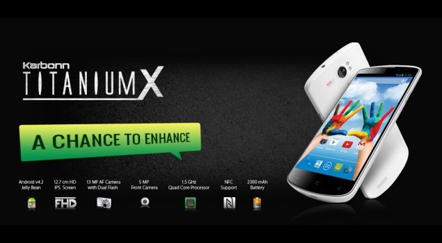 Karbonn Titanium X With Quad-Core Processor, 13MP Camera Spotted Online