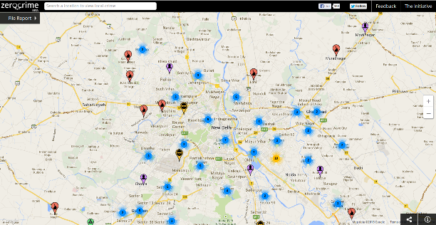 Zerocrime – A Social Tech-Initiative That Maps And Reports India's Crimes.
