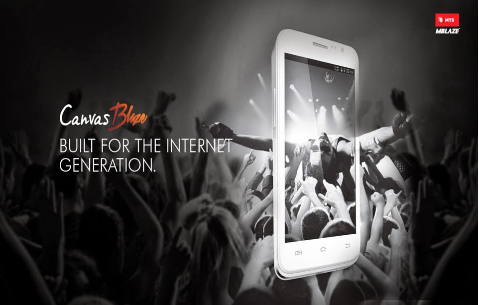 Micromax MTS Canvas Blaze MT500 Available For Price Rs.10,999: 8MP Camera, Quad-Core Processor