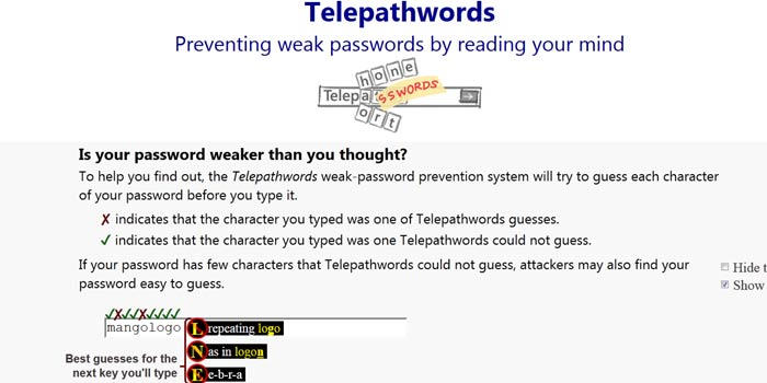 Microsoft's Telepathwords Tool Plays Mind-Reader, Helps To Make A Secure Fool-Proof Password.