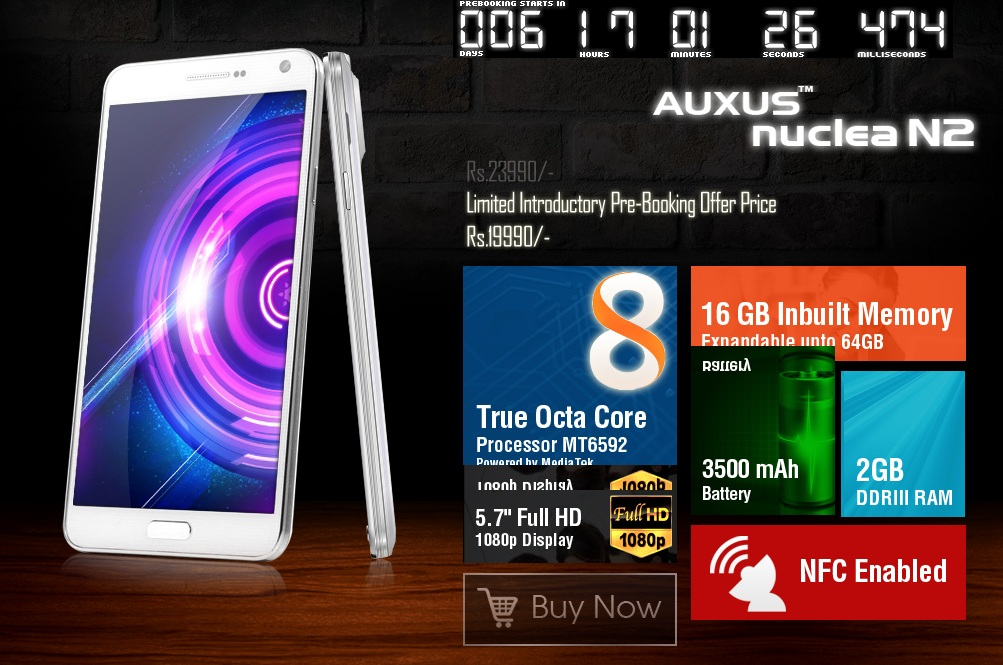 iBerry Auxus Nuclea N2 With Octa-Core Processor Now Available. Price Rs.23990