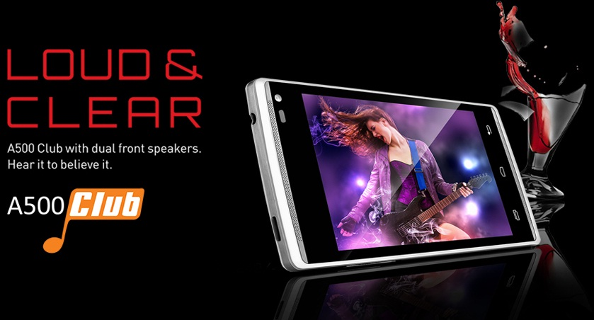 Loud And Clear XOLO A500 Club With Dual Speakers Launched. Priced Rs.7249