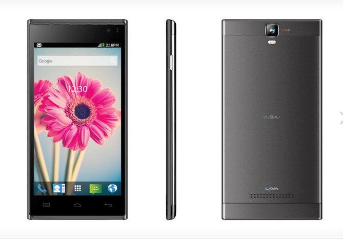 Lava Iris 504Q+ With 10MP Exmor Sensor Camera. Price Rs.13990