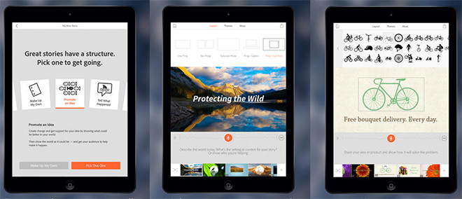 Adobe Voice – An Incredible Digital Storytelling App For iPad, Launched.
