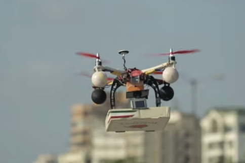 drone pizza delivery