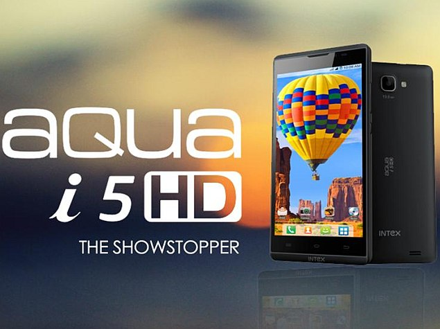 Intex Aqua i5 HD Launched in India For Rs 9990; 13MP Camera, Android Jelly Bean