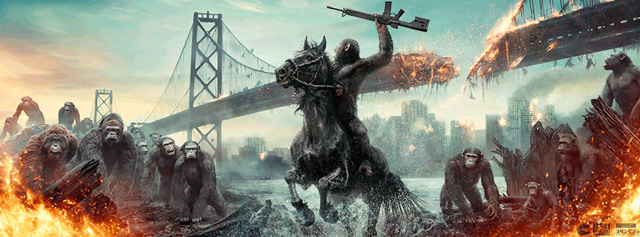 dawn of the planets of the apes trailer