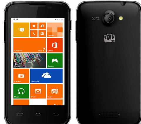 Micromax Unveils Two Windows 8.1 Smartphones – Canvas Win W121, Canvas Win W092