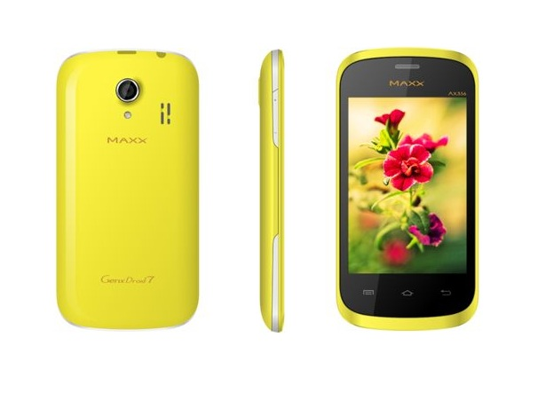 Maxx Mobile Floats AX356 GenxDroid. Available On Infibeam For Rs.3696: Specs And Features