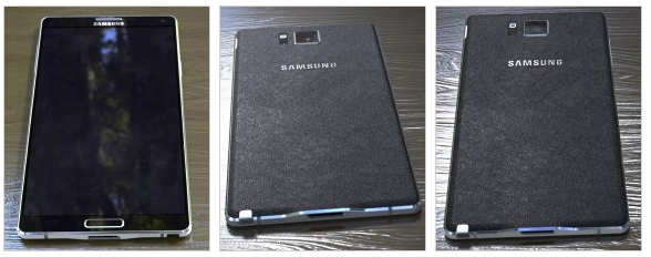 Samsung Galaxy Note 4 Detailed Images Leaked Online – Reveal New Rear and Side Designs.