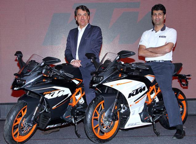 Bajaj Auto Launches Two KTM RC Series Supersport Bikes In India