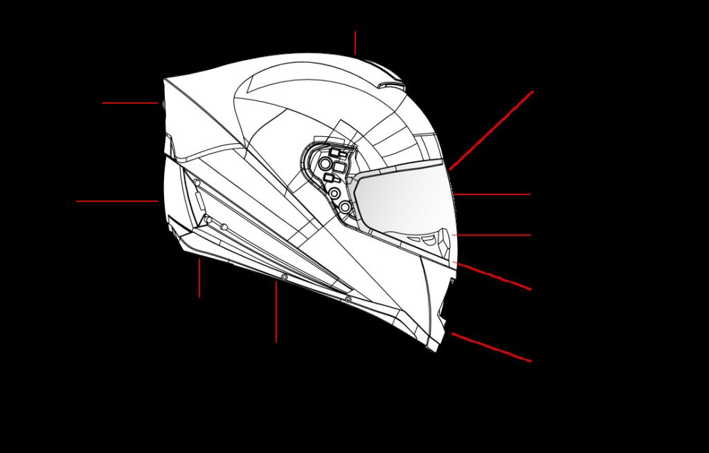 skully helmet tech specs