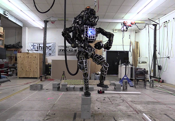 Google Owned Boston Dynamics' Robot, 'Atlas' Mimics The Karate Kid Pose.