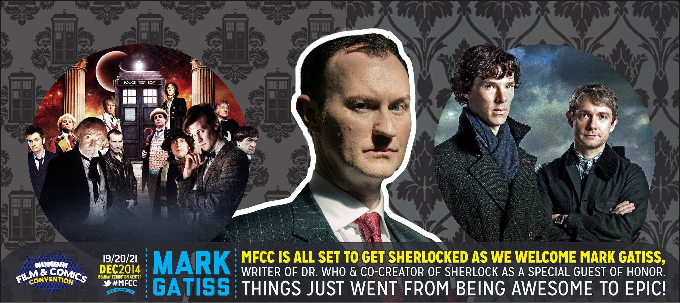 Mark Gatiss Will Attend Mumbai Comic Con 2014 (19 Dec – 21 Dec) As Special Guest
