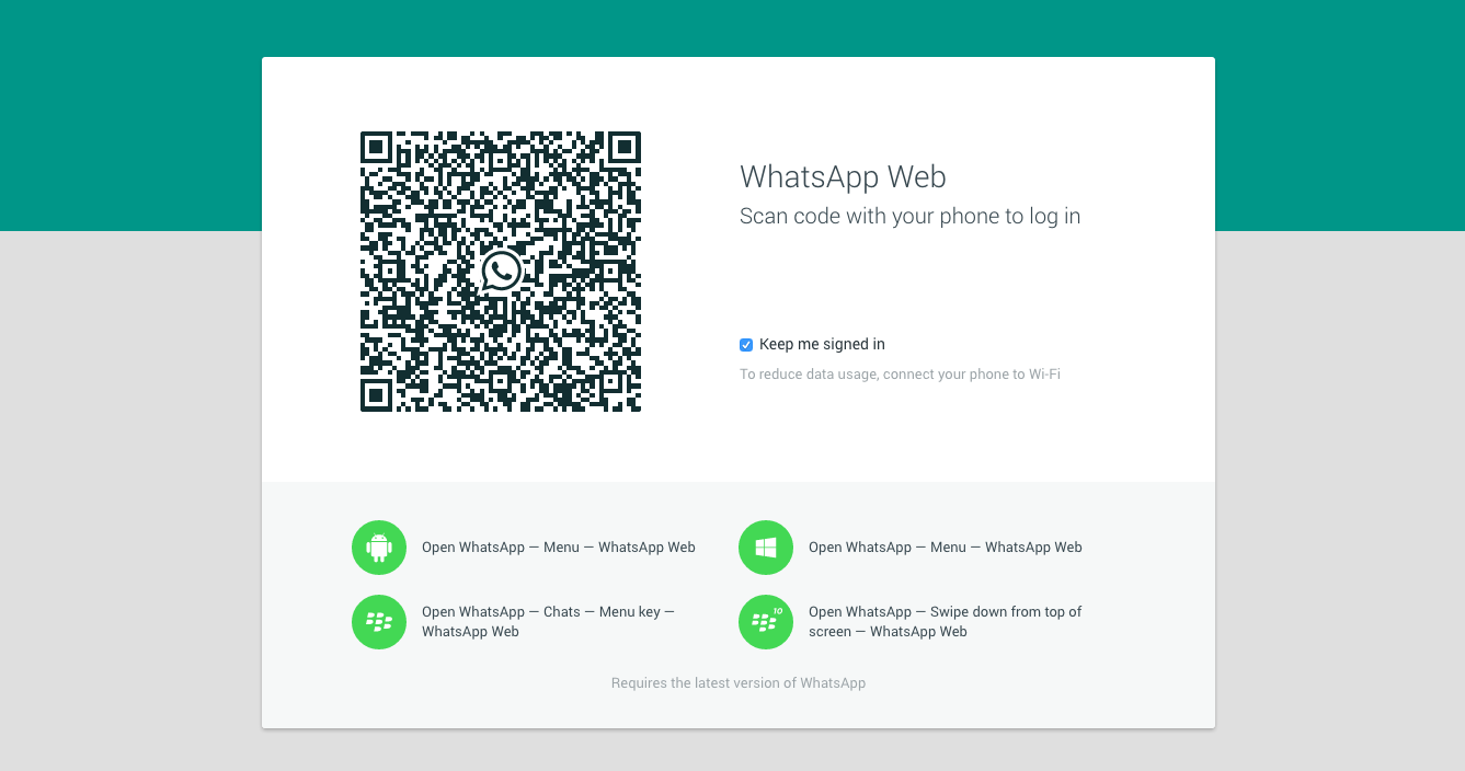 'WhatsApp' Launches a web based client for Desktops
