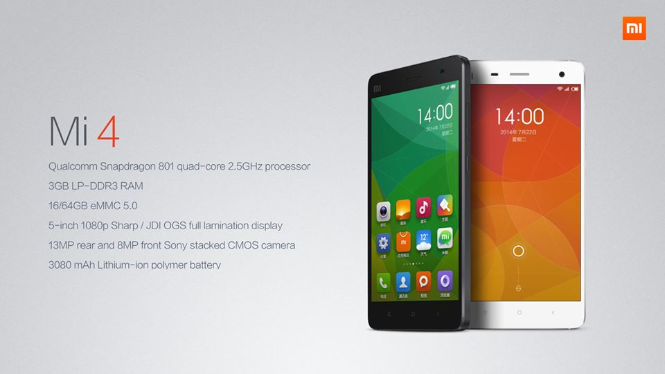 Xiaomi MI 4 To Be Launched In India On January 28th