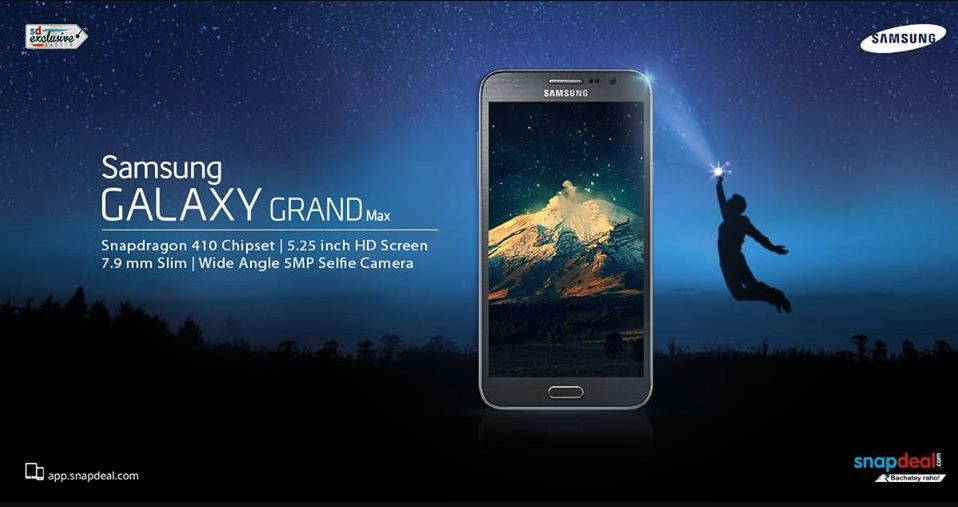 Samsung Galaxy Grand Max On Snapdeal For Price Rs.15362: 13MP Camera, Quad-Core CPU