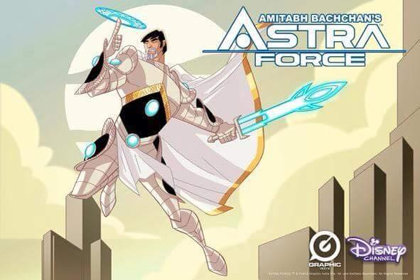 Graphic India And Disney Channel Rope In Amitabh Bachchan As A Toon Superhero For 'Astra Force'