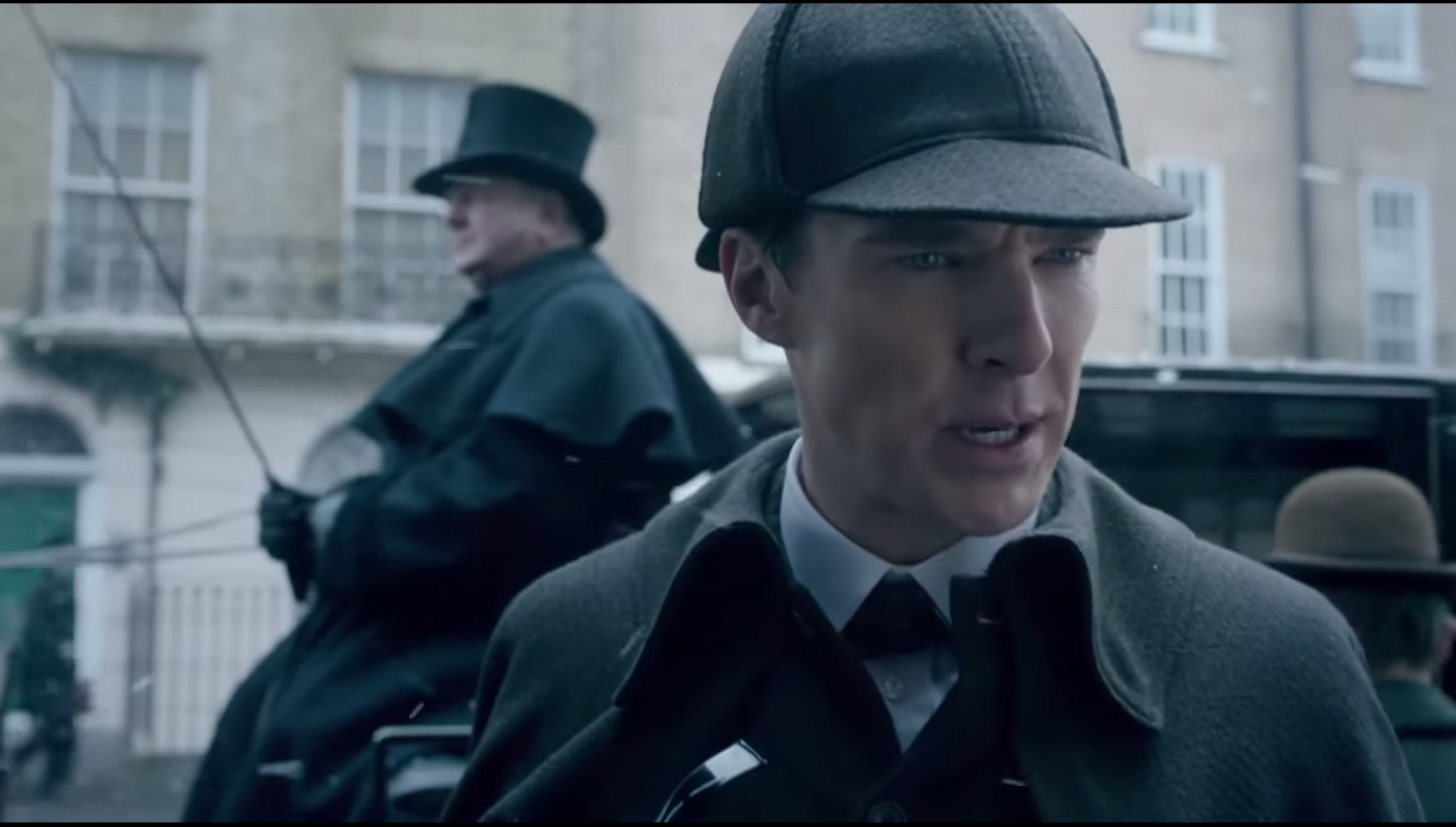 First Look : Benedict Cumberbatch in and as Sherlock Holmes of the Victorian Age