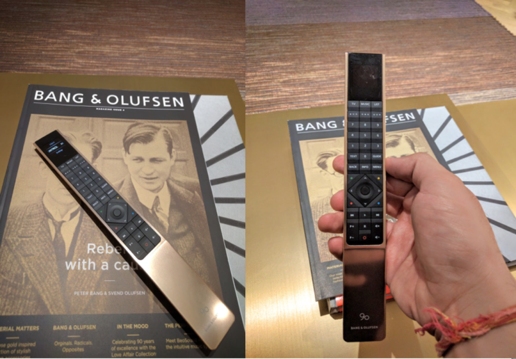 Remote of Bang and Olufsen Avant Television