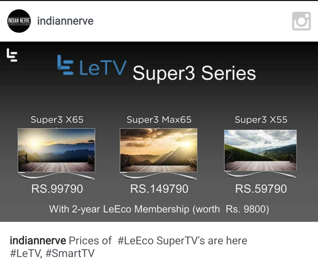 LeEco Letv launched TV in India