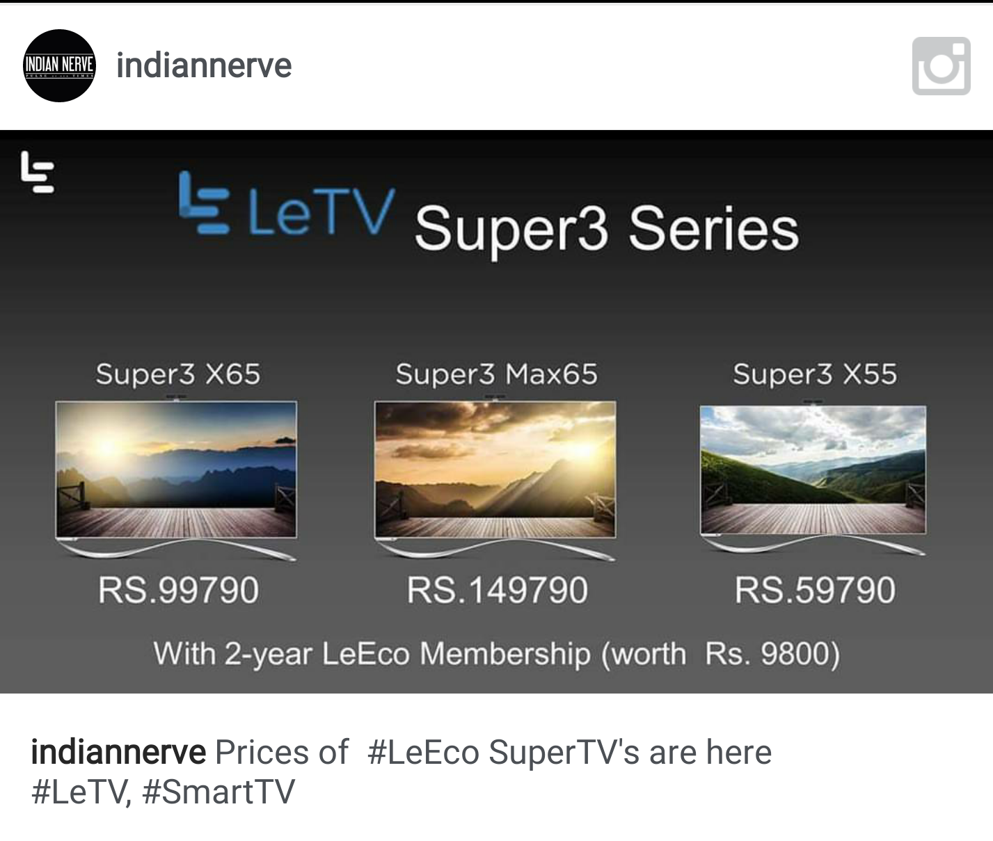 LeEco launches Ultra HD televisions in India, price starts at Rs 59,790