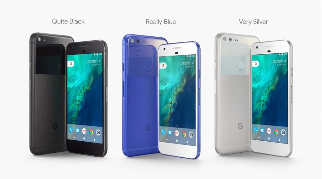 Colour Options for Google Pixel