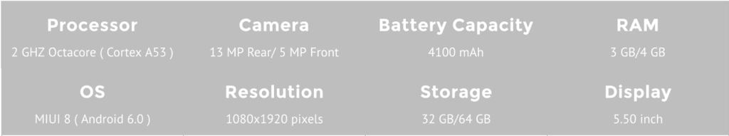 Xiaomi Redmi Note 4 Specifications