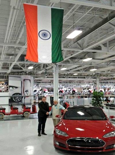 narendra modi elon musk tesla india